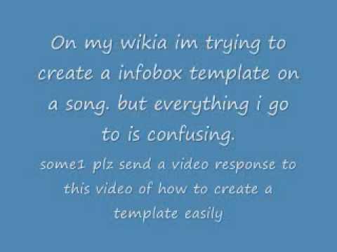How do i create a template easily on a wikia - YouTube