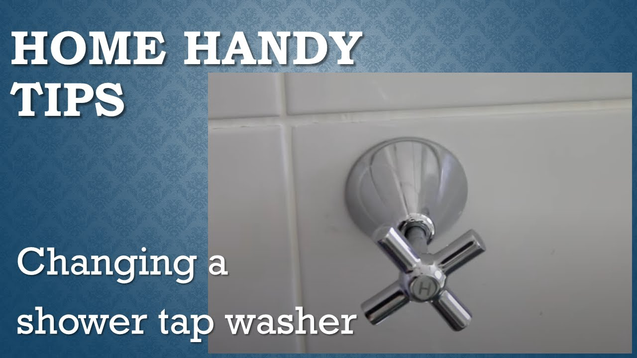 Changing a shower tap washer - YouTube