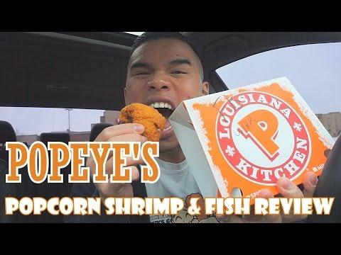 POPEYE'S POPCORN SHRIMP & FISH  REVIEW | MUKBANG | QT