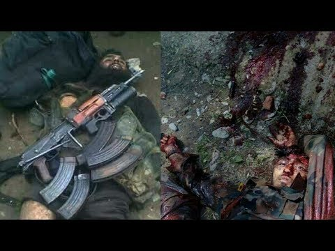 After killing three militants, the Indian army kept the video of the dead body of the militants for