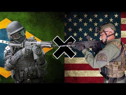 BOPE (BRA) x SWAT (EUA) - Comparação