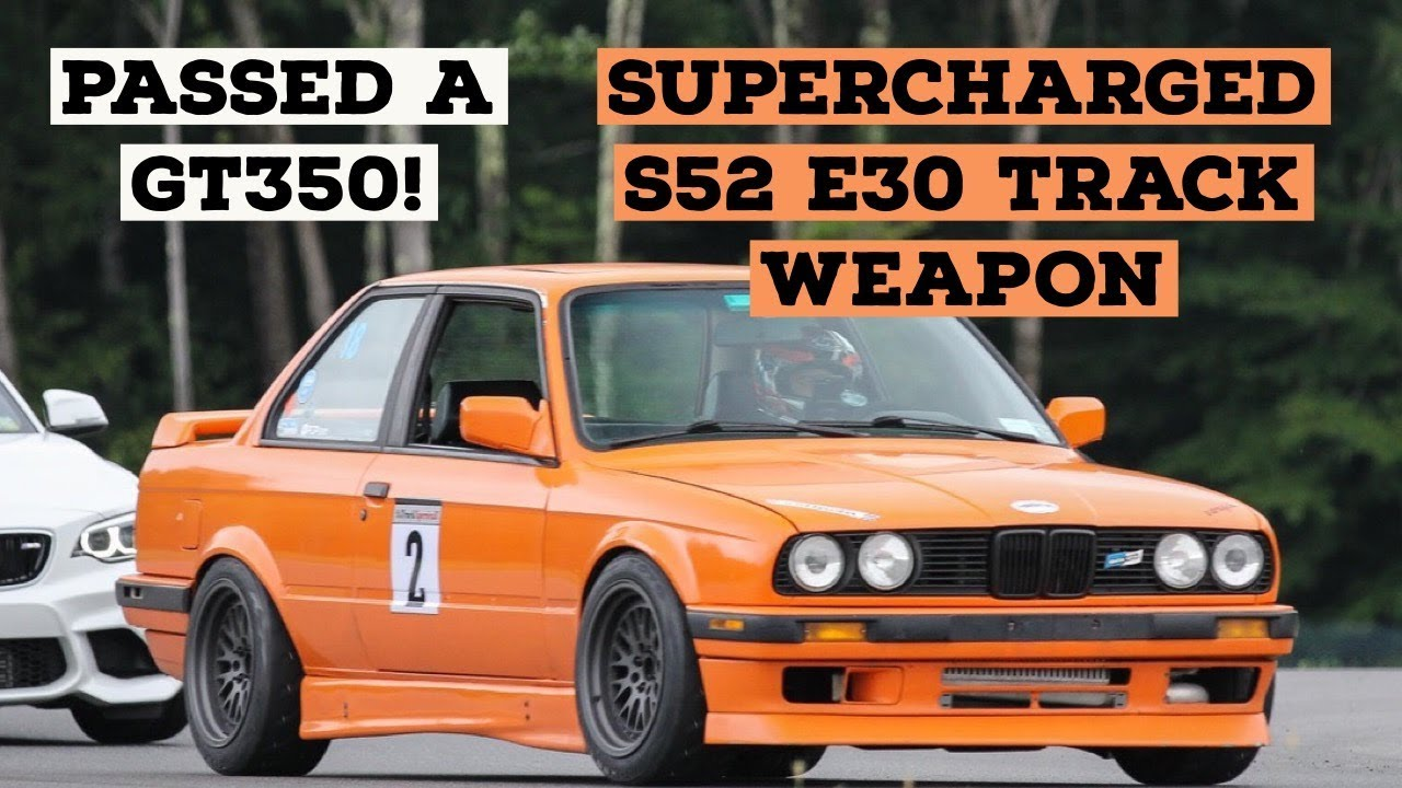 supercharged s52 e30 tears up the track!