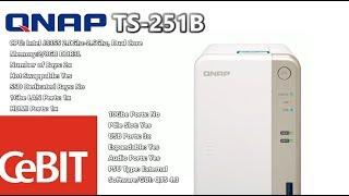 Qnap Desktop NAS TS-251B-4G 2-Bay RAID (4GB RAM) + PCIe