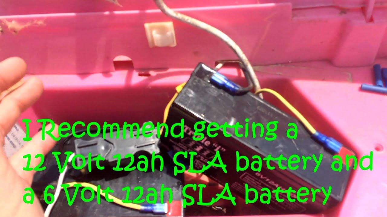 how to modify 12 volt barbie jeep power wheels to 18 volts plus 18v test run [ 1280 x 720 Pixel ]