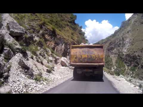 Deadliest roads in  India real footage from Banjar hills to Mandi himachal