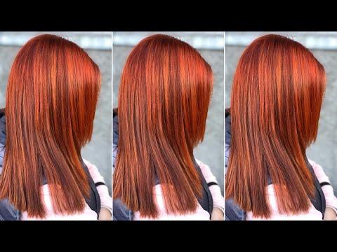 Рыжий яркий цвет волос/ эстель