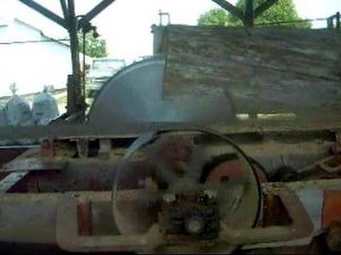 Steam Powered 1800s Circular Sawmill Cutting Oak Logs Into