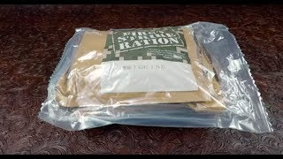 MRE Review 2016 First Strike Ration FSR 24h Menu 1 Pepperoni And Bacon Sandwiches