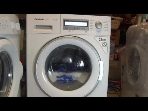 Panasonic Twin Jet NA127VB6 :  test wash with collapsed broken bearings