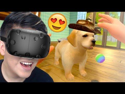ADOTAMOS UM CACHORRO VIRTUAL! - Realidade Virtual