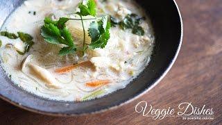 ココナッツミルクを使ったエスニック風スープはるさめの作り方:How to make Harusame Soup | Veggie Dishes by Peaceful Cuisine