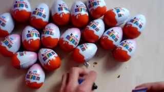 50 kinder surprise eggs new 2015  disney fairies  hello kitty songebon cars 2 киндер сюрприз