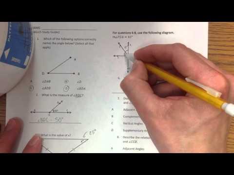 Angles Study Guide