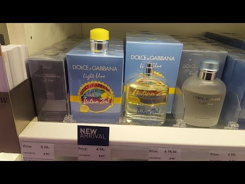 Fragrance Shopping @ Amsterdam Duty Free + Thoughts On D&G Light Blue Italian Zest For Men