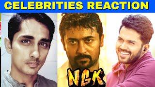 NGK Official Trailer - Celebrities Reaction | Suriya, Selvaraghavan | Sai Pallavi | Yuvan