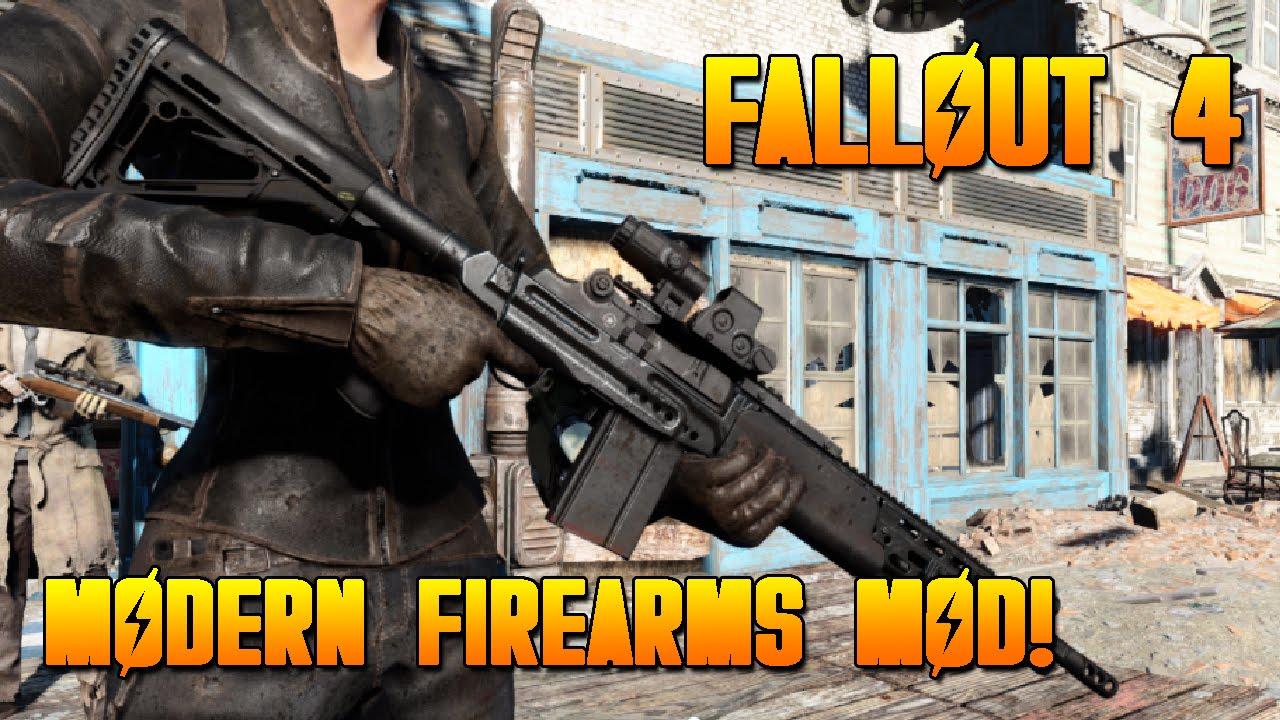 Fallout 4 MODS-Modern Firearms Weapon Mod-NEW MODERN WEAPONS! (FALLOUT 4  XBOX ONE MOD SHOWCASE)