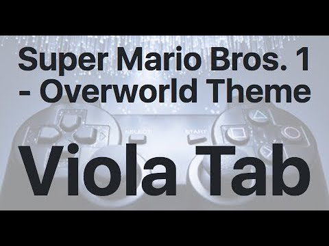 Learn Super Mario Bros. 1 -  Overworld Theme on Viola - How to Play Tutorial