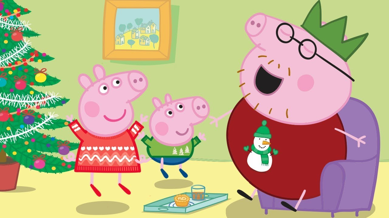 Peppa pig fran ais p re no l joyeux no l peppa dessin - Peppa pig francais noel ...