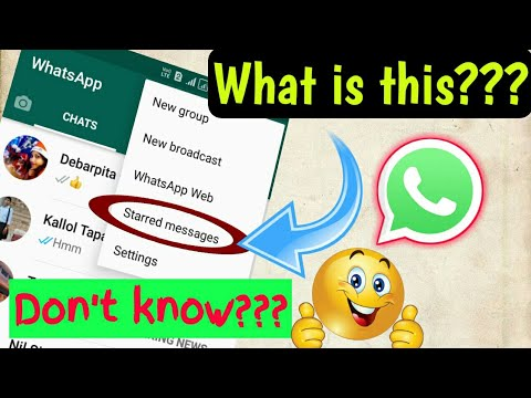 What is the meaning of starred messages in Whatsapp || Trending Tech Zone  || 2018