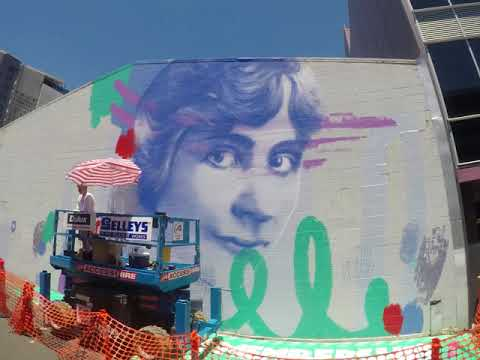 2018 Street Art Explosion - Muriel Matters by Claire Foxton