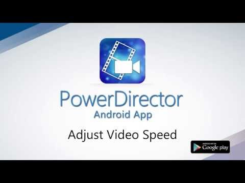 How to Adjust Video Speed | PowerDirector Video Editor App