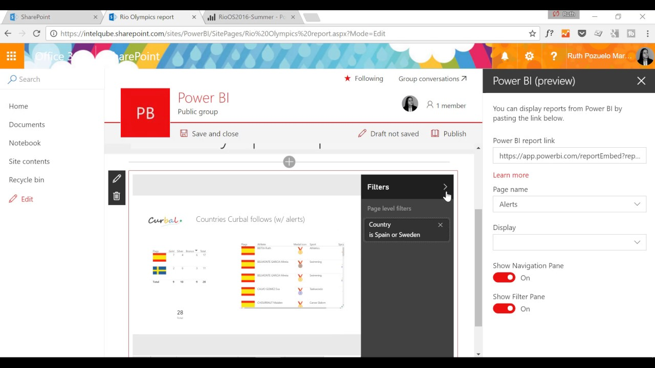 How to embed Power BI in Sharepoint Online - YouTube