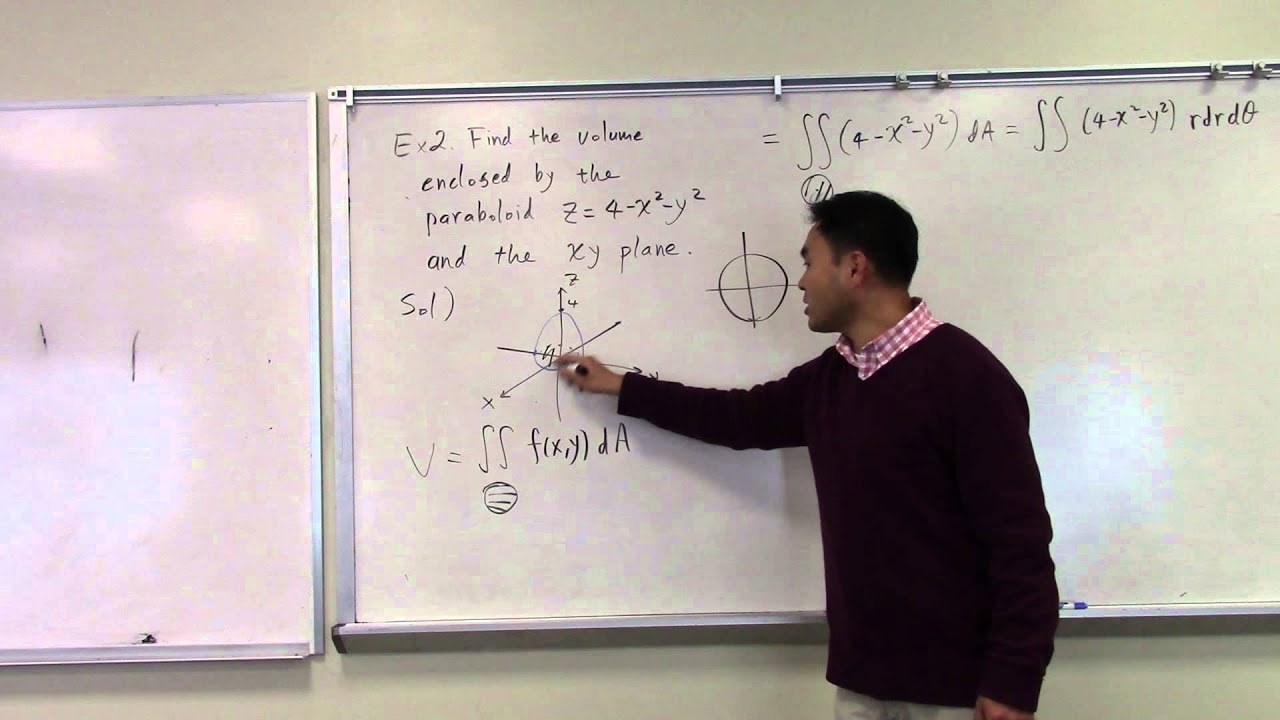 Finding Volume Under A Surface Using Double Integral In Polar Coordinates