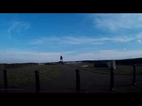 Winter Drive To David Stirling Memorial Statue Hill of Row Scotland