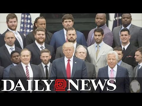 Donald Trump, Patriots fire back about White House attendance pictures