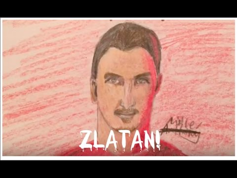 Drawing ZLATAN! Zlatan Ibrahimovic Man Utd