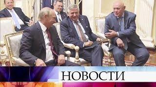 Президент посмотрел фильм «Союз-7» ивстретился ссоздателями ленты иучастниками этой экспедиции.