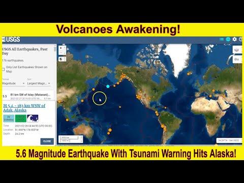 Another Large 5.4 Magnitude Earthquake Hits Alaska With Tsunami Warning!
