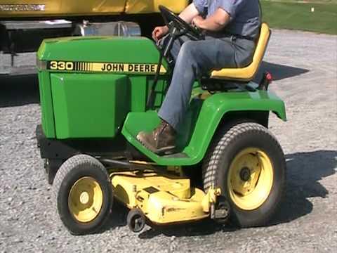 John Deere 330 Diesel Tractor 48 Inch Mower Youtube