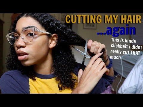 CUTTING MY NATURAL HAIR!