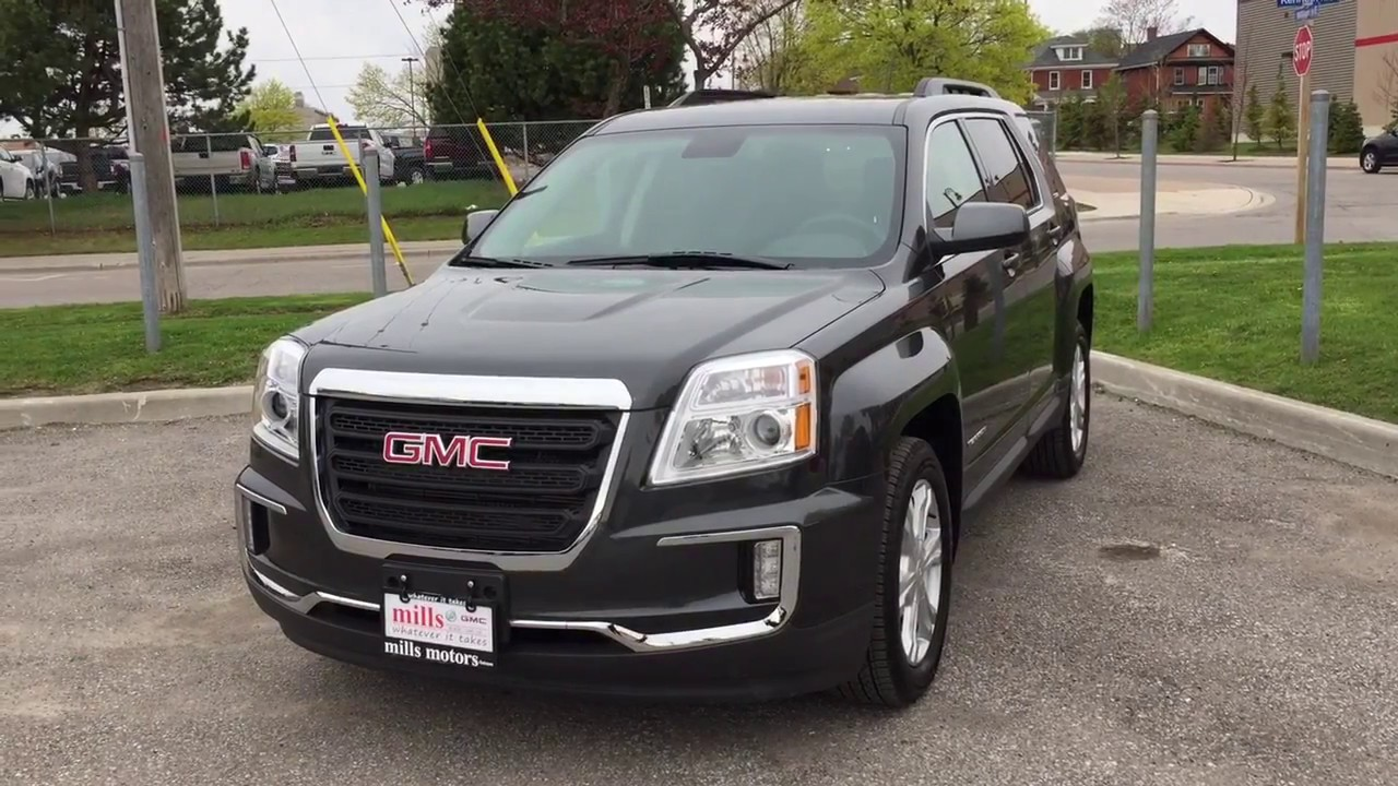 2017 gmc terrain sle 2 fwd heated front seats graphite gray metallic oshawa on stock 171356. Black Bedroom Furniture Sets. Home Design Ideas