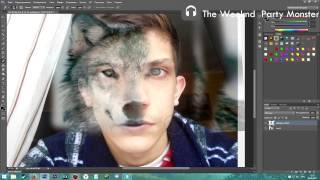 Photoshop - Как сделать лицо волка и человека