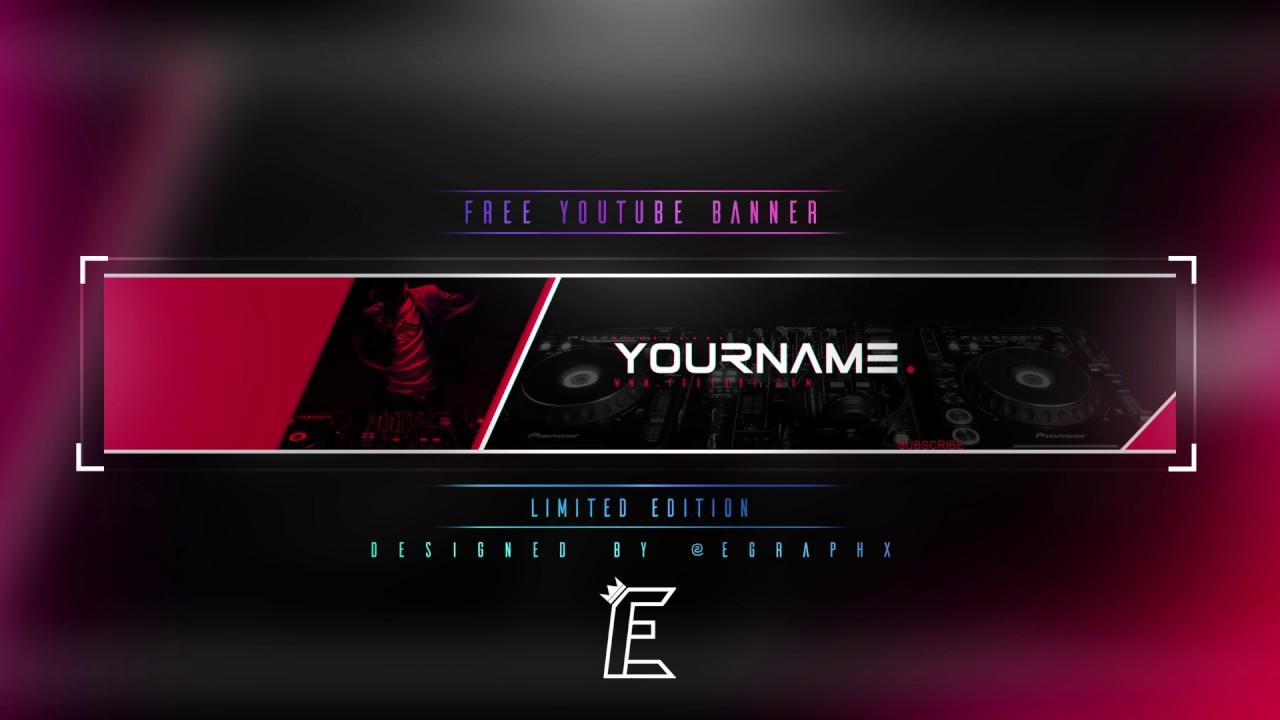 Free youtube music banner template youtube - Youtube banner pictures ...