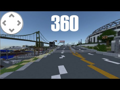 360° Minecraft GTA V MAP TOUR IN 1440p [DEMO] 360° Degree