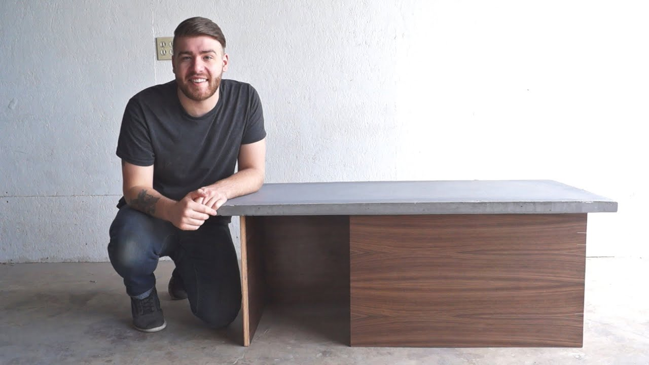 Diy modern concrete coffee table modern builds ep 32 youtube geotapseo Gallery