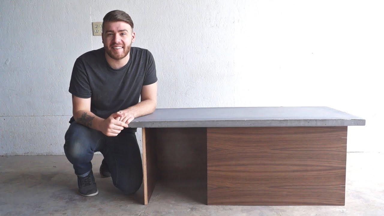 DIY Modern Concrete Coffee Table | Modern Builds | EP. 32 ...
