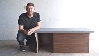 DIY Modern Concrete Coffee Table Modern Builds EP. 33
