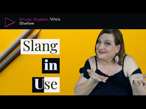 Conversation Lesson Using American Slang