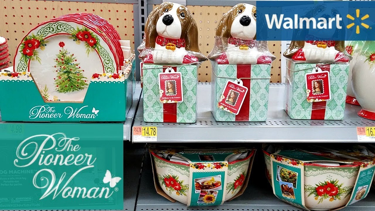 Pioneer Woman Christmas Dishes 2020 Shop With Me Walmart The Pioneer Woman Christmas 2017   YouTube