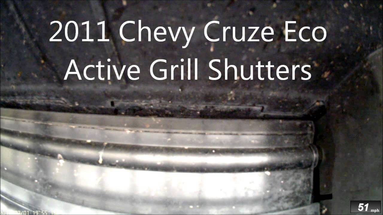 Chevy Cruze Eco Active Grill Shutters - YouTube