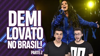 AQUECIMENTO PARA O SHOW DA TELL ME YOU LOVE ME WORLD TOUR DA DEMI LOVATO NO BRASIL! | Virou Festa