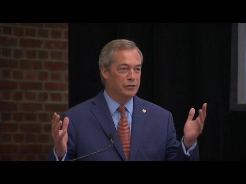 Nigel Farage Resigns As Leader Of Ukip - Video