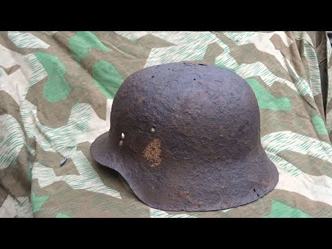 WW2 M42 Stahlhelm - Relic clean up & preservation