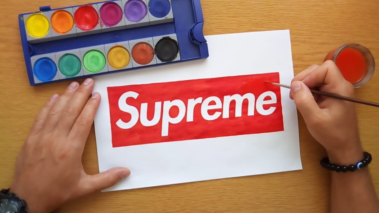How To Draw The Supreme Logo (DIY Supreme Logo) - YouTube