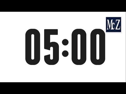 ⏳ 5 minutes COUNTDOWN TIMER - ⏱ Timer 5 minutes - Conto alla