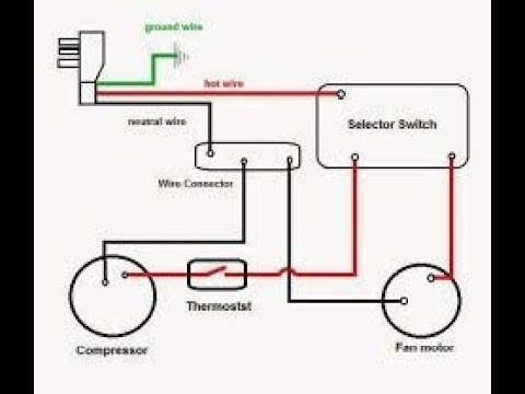 Split AC Wiring Diagram - YouTube